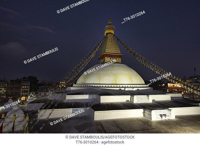 The Great Stupa of Boudhanath, Kathmandu, Nepal