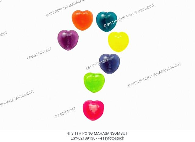 Heart Candy Set in Question Mark Shape for Valentine