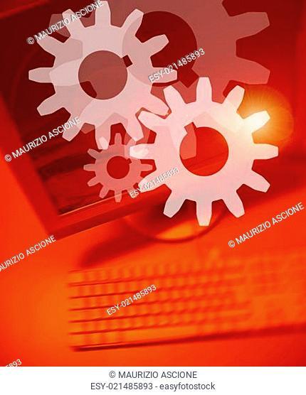 Engine Gears Symbol Background