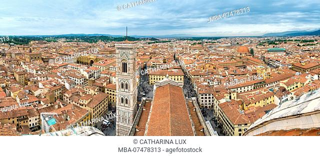 Florence, Dome, Cathedral, Santa Maria del Fiore, panoramic view from the dome