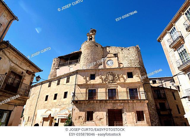 Castle Fernan Gonzalez, main square, Sepulveda, Segovia province. Castile-Leon Spain