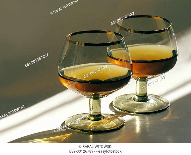 brandy in glasses