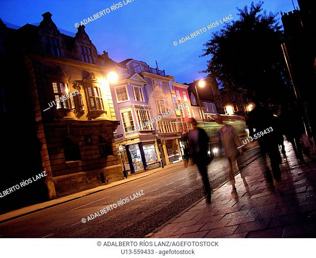 High Street City Centre Downtown Oxford England