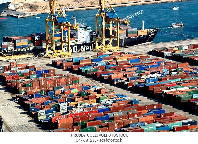 Port of Barcelona. Spain, Commercial area