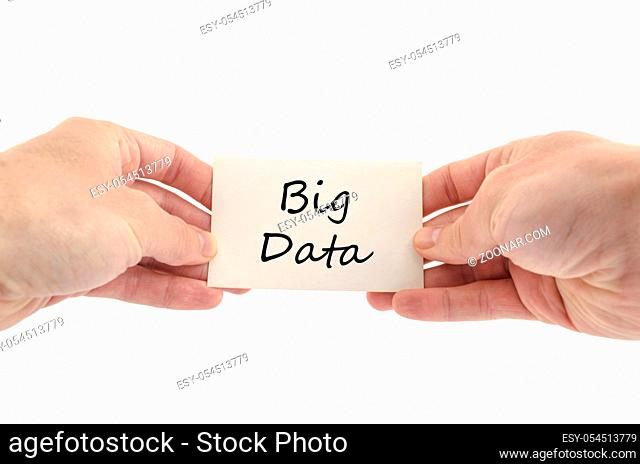 Big data text concept isolated over white background