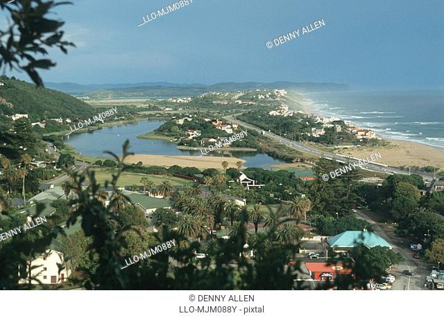 Elevated view of Wilderness, Garden Route, Western Cape Province, South Africa