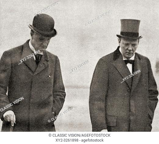 Sir Edward Grey, left with Winston Churchill in 1914 just before WWI was declared. Edward Grey, 1st Viscount Grey of Fallodon, aka Sir Edward Grey, 1862 - 1933
