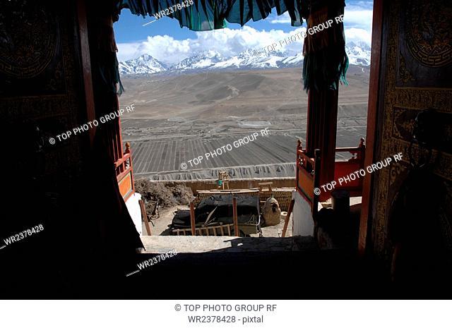Tibet Ali Kaplan Hanging Temple