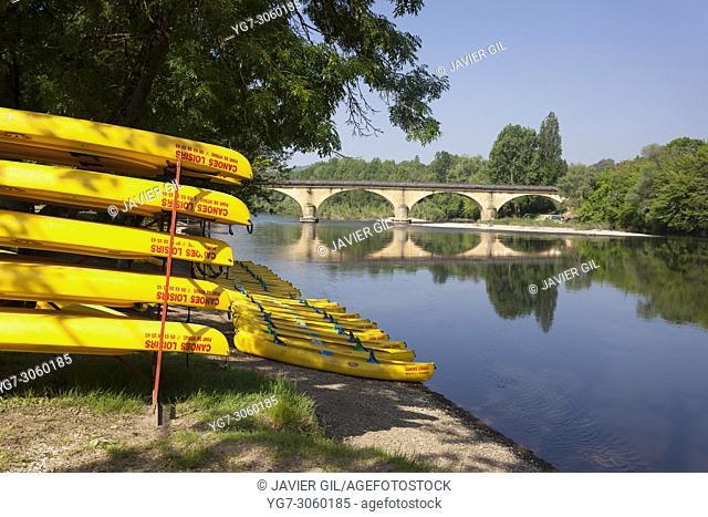 Dordogna river, Domme, Dordogne, Nouvelle Aquitaine, France