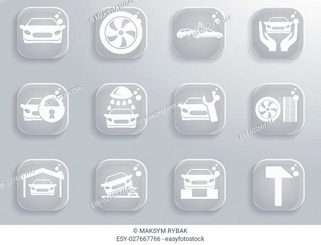 car services simply symbol for web icons and user interface