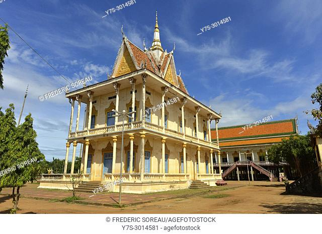 Wat Maha Leap buddhist temple , Kampong Cham province, Cambodia, South East Asia, Asia