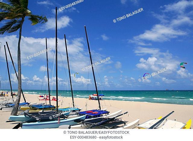Fort Lauderdale catamaran beach Florida blue sky