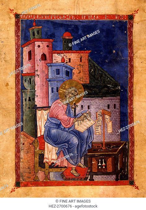 Saint Matthew the Evangelist (Manuscript illumination from the Matenadaran Gospel), 1270
