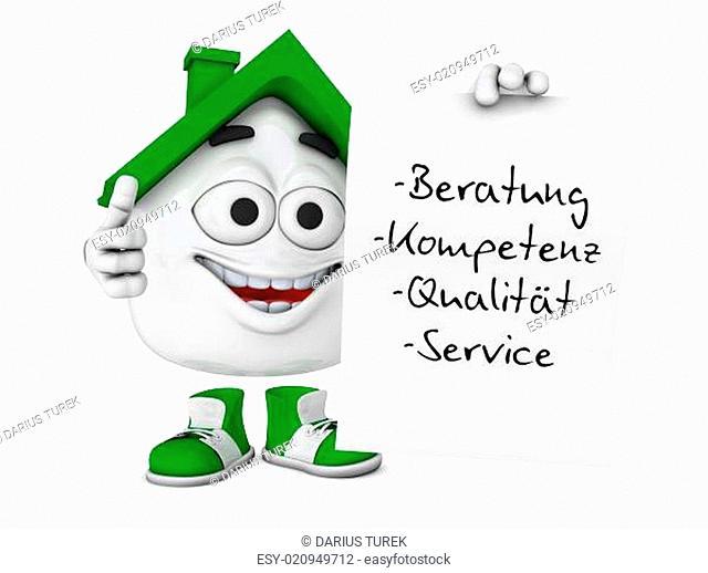 Kleines 3D Haus Grün - Beratung Kompetenz Qualität Service