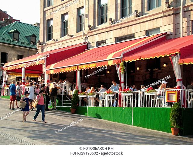 Montreal, Canada, QC, Quebec, Old Port, Old Montreal, Place Jacques Cartier, Outdoor cafTs and restaurants