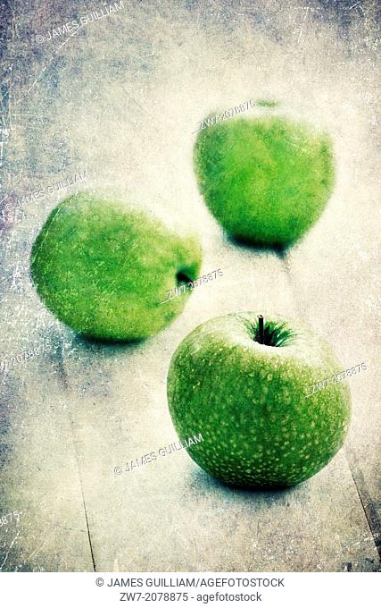 Fresh green Apples, variety Granny Smith
