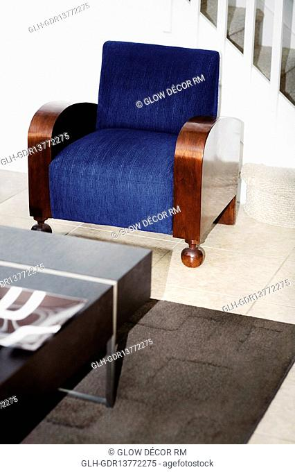 Armchair in a living room
