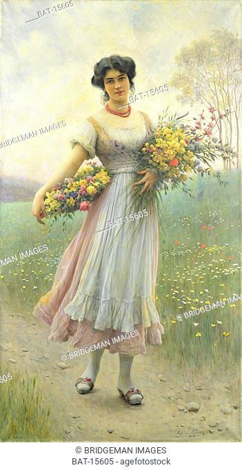 Spring Flowers, Blaas, Eugen von (1843-1931) / Josef Mensing Gallery, Hamm-Rhynern, Germany / Bridgeman Images