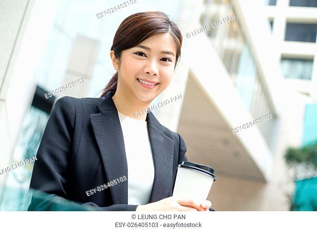 Businesswoman enjoy her coffee