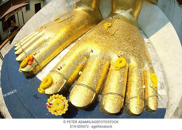 Buddha feet in Bangkok, Thailand