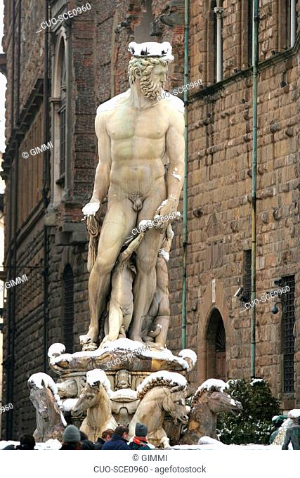 Nettuno fountain, Piazza della Signoria, Florence, Tuscany, Italy