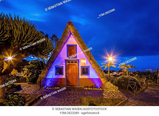 Traditional Madeirense home at Santana, Madeira, Portugal