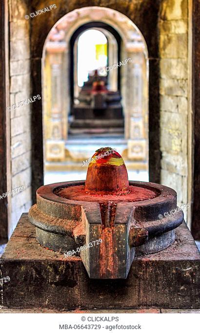 Lingam, a symbol of adoration for the Hindus, Pashupatinath Temple, Kathmandu, Nepal, Asia