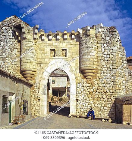 Old Castillian Town Gate. Hita (Guadalajara) Spain. Hita is a municipality in the comarca of La Alcarria, in the province of Guadalajara (province), Spain