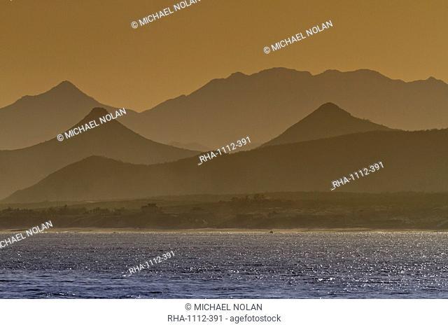 Sunset, Baja Peninsula, Gulf of California Sea of Cortez, Baja California Sur, Mexico, North America