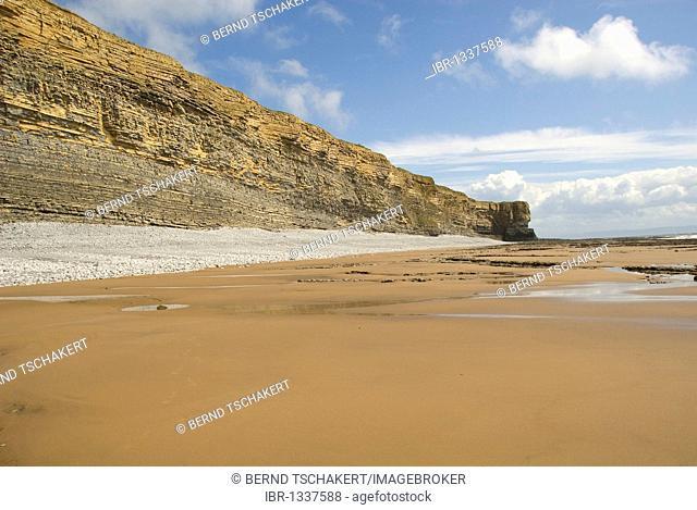 Beach, cliffs, coast, Nash Point, Glamorgan Heritage Coast, South Wales, Wales, United Kingdom, Europe