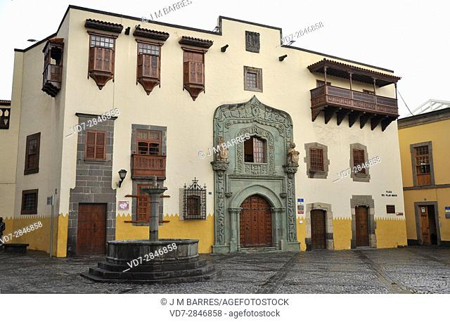 Casa de Colon, south facade. Las Palmas de Gran Canaria, Canary Islands, Spain