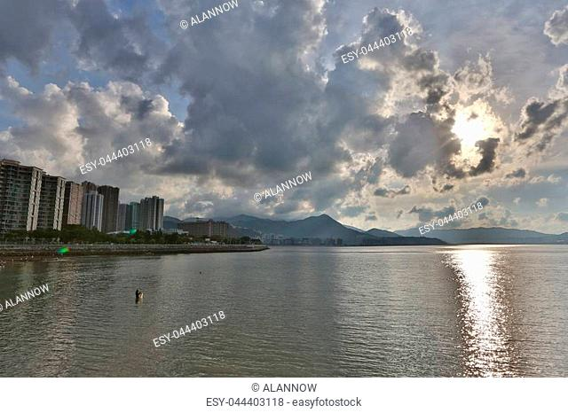 the tolo harbour Landscape in Hong Kong Ma On Shan