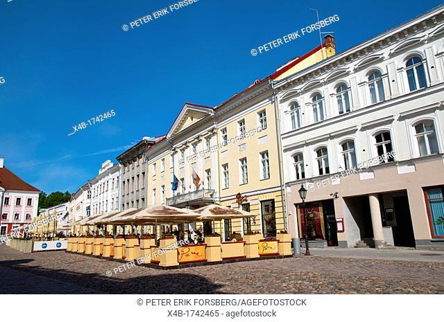 Raekoja plats the main square Tartu Estonia the Baltic States Europe