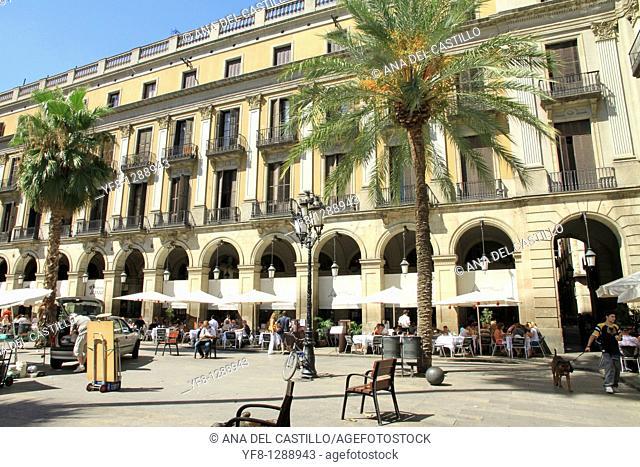 Plaza Real ,Barcelona, Catalonia, Spain