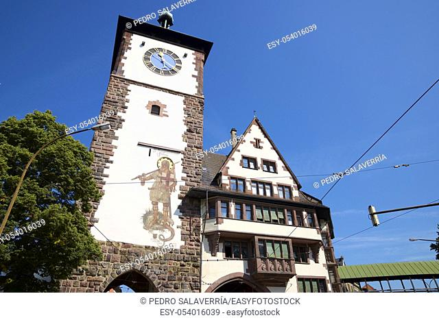 Tower view in Freiburg im Breisgau in Germany