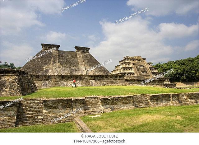 Mexico, Central America, America, Veracruz State, El Tajin, UNESCO, World heritage site, Estructure 5, pyramid of the