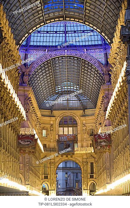 Italy, Lombardy, Milan, Vittorio Emanuele Gallery