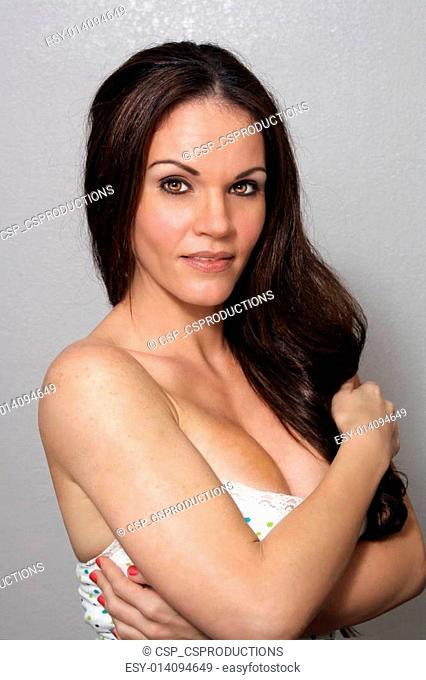 Beautiful, Exotic Brunette, Headshot (3)