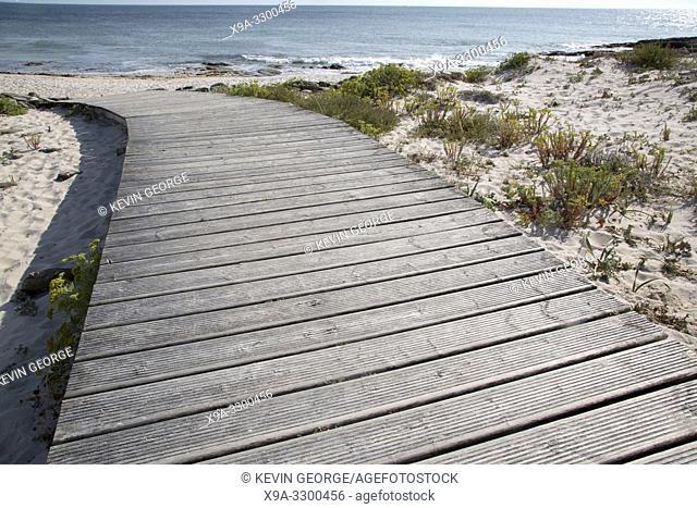 Footpath at Larino Beach, Coruna; Galicia; Spain