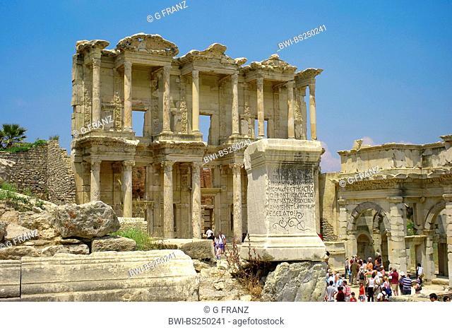 ruins of ancient library of Ephesus, Turkey, West Anatolia, Ephesus