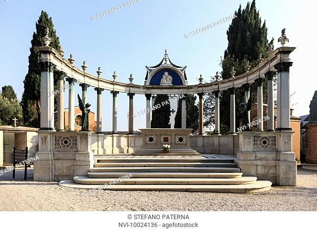 Cemetery on the island of San Michele, Venice, Italy
