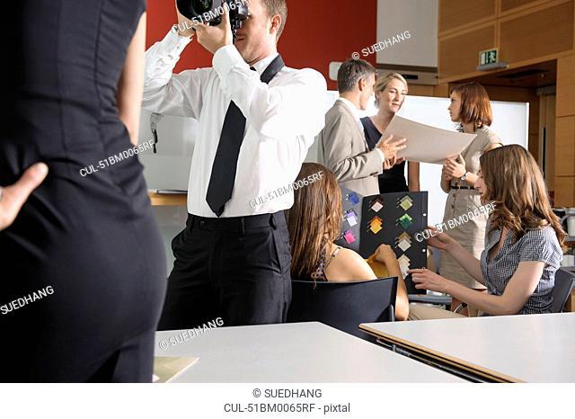 Business people working in studio