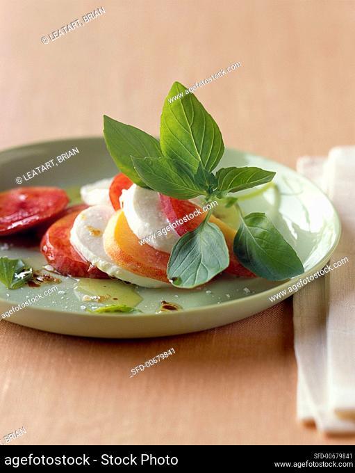 Fresh Tomato and Mozzarella Salad with Basil