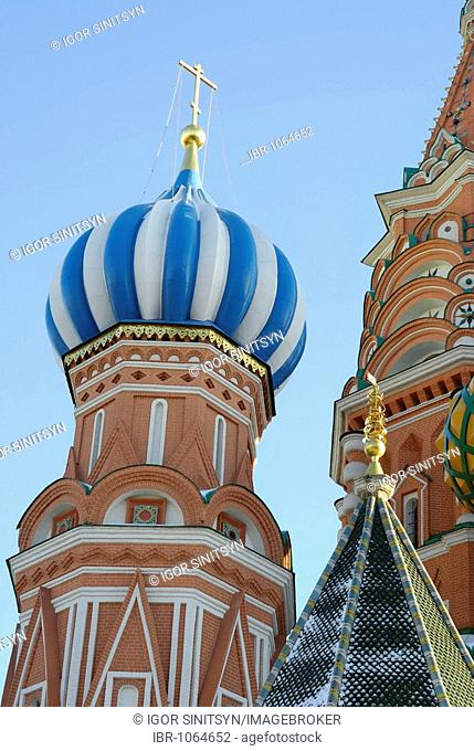 Dome of the Orthodox St. Basil cathedral, Moscow, Russia