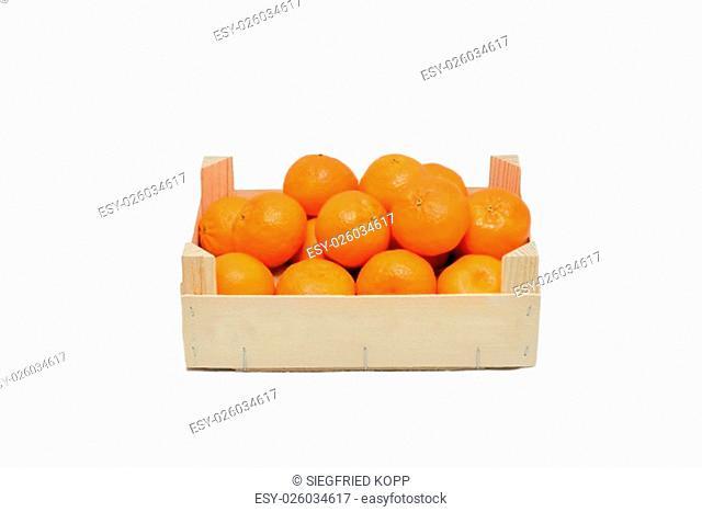 fresh tangerines on white background