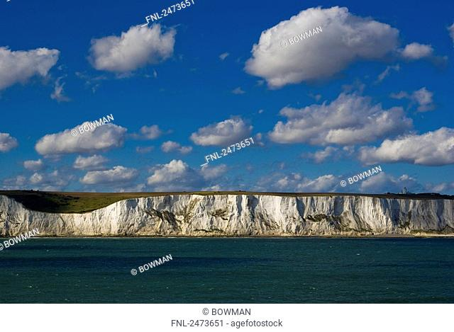 Rock formations at coast, White Cliffs Of Dover, Dover, Kent, England