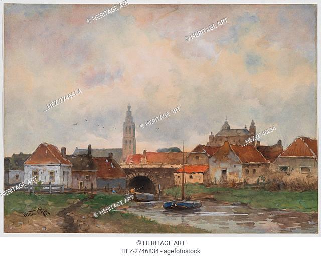 Upper Lock at Steenbergen, 1800s. Creator: Willem C Rik (Dutch)