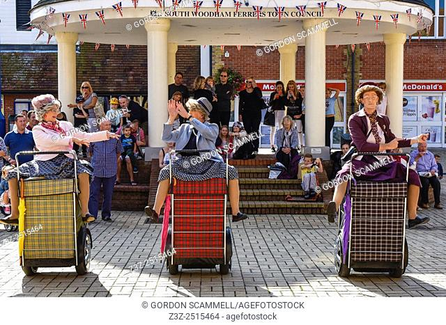 The worldâ. . s first and only shopping trolley dance display team, Granny Turismo, perform in South Woodham Ferrers town centre