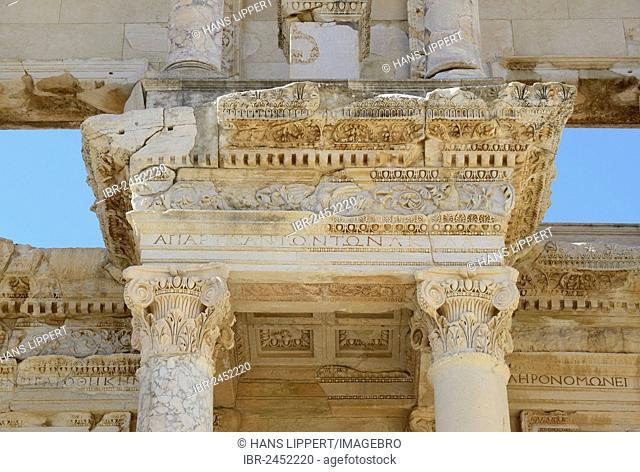 Library of Celsus, ancient city of Ephesus, Efes, UNESCO World Heritage Site, Aegean Sea, Turkey