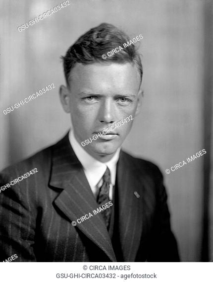Charles Lindbergh, Portrait after Successful Non-Stop Trans-Atlantic Flight, Washington DC, USA, Harris & Ewing, June 1927